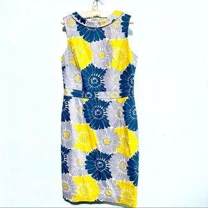BODEN vintage print floral dress pencil sz 10
